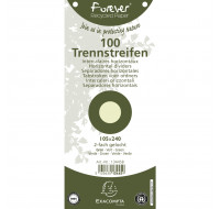 Lot de 12 paquets de 100 fiches intercalaires unies perforées Forever 105x240mm - EXACOMPTA - Vert - 13445B
