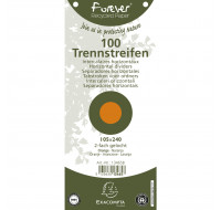 Lot de 12 paquets de 100 fiches intercalaires unies perforées Forever 105x240mm - EXACOMPTA - Orange - 13465B