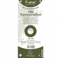Lot de 12 paquets de 100 fiches intercalaires horizontales unies perforées Forever 105x240mm - EXACOMPTA - Coloris assortis - 13495B