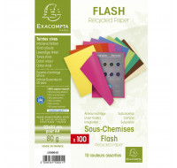Lot de 10 paquets de 100 sous-chemises flash - 22 x 31 cm - EXACOMPTA - Coloris assortis - 150001E