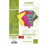 Lot de 10 paquets de 30 sous-chemises flash- 22 x 31 cm - EXACOMPTA - Coloris assortis - 150100E