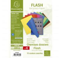 Lot de 10 paquets de 10 chemises Flash - EXACOMPTA - 24 x 32 cm - Coloris assortis - 160300E