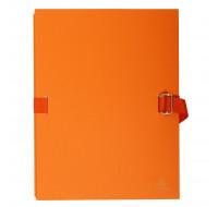 Lot de 10 chemises dos extensible avec rabat papier - 24 x 32 cm - EXACOMPTA - Orange - 223245E