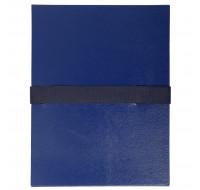 Lot de 10 chemises extensibles Balacron sans rabat - 24 x 32 cm - EXACOMPTA - Bleu foncé - 2652E