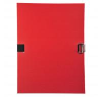 Lot de 10 chemises à sangle dos extensible avec rabat - EXACOMPTA - Rouge - 30109H