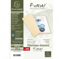 Lot de 5 paquets de 100 chemises Forever® 170 100% recyclé - 24 x 32 cm - EXACOMPTA - Rose - 420003E