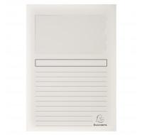 Paquet de 100 chemises à fenêtre Super 160g/m2 - 22 x 31 cm - EXACOMPTA - Blanc - 50151E