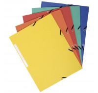 Lot de 50 chemises carte recyclé 3 rabats élastiques + étiquettes 24 x 32 cm - EXACOMPTA - 55470E