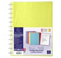 Lot de 4 protège-documents détachables en polypropylène rigide Linicolor® 40 vues - A4 - EXACOMPTA - Couleurs assorties - 56277E