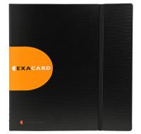 Lot de 5 portes cartes de visite exacard à pochettes détachables 320 cartes Exactive® - 26,5x25cm - EXACOMPTA - Noir - 75234E