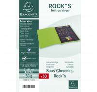 Lot de 10 paquets de 30 sous-chemises rock''s - 22 x 31 cm - EXACOMPTA - Framboise - 807016E