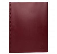 Lot de 5 protège-documents PVC - 80 vues - vega opaque- A4 - EXACOMPTA - Bordeaux - 88425E