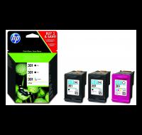 Pack 3 cartouches d'encre HP 301 (E5Y87EE) - 2 Noir et 1 couleurs