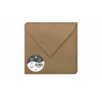 Lot de 20 enveloppes gommées Pollen - CLAIRFONTAINE - 165 mm x 165 mm - Kraft