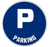 Plaque de signalisation parking- VISO - adhésif - D28 cm