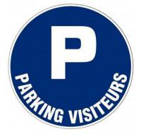 Plaque de signalisation parking visiteur - VISO - adhésif - D28 cm