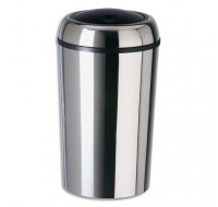 ROSSIGNOL Poubelle Swingy ronde couvercle basculant inox 50 litres - ADVEO - 289244