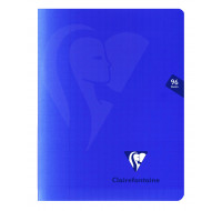 Cahier Mimesys - CLAIREFONTAINE - 96 pages - Grands carreaux - 17 x 22 - Bleu marine