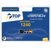 Pack de cartouches d'encre compatibles BROTHER : LC1240 - TOP OFFICE - Noir et couleurs