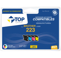 Pack de cartouches d'encre compatibles BROTHER : LC223 - TOP OFFICE - Noir et couleurs