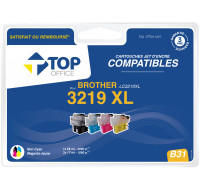 Pack de cartouches d'encre compatibles BROTHER : LC3219 XL - TOP OFFICE - Noir et couleurs