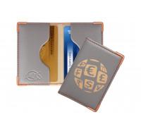 Etui anti-RFID pour 2 cartes bancaire - COLOR POP - Gris