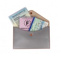 Pochette rangement papiers voyage - COLOR POP - Gris