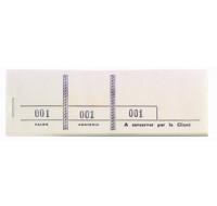 Carnet passe partout de 100 tickets - 96401E - EXACOMPTA - Blanc