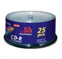 Pack de 25 CD-R 52x - FUJIFILM - 700 Mo