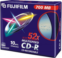 Pack de 10 CD-R 52x - FUJIFILM - 700 Mo