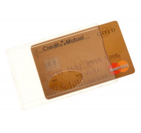 Etui anti-RFID pour carte bancaire - COLOR POP - Transparent