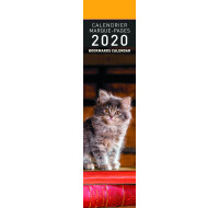 Calendrier marque-page 2020 - PICTURA - 4 x 16 - Chats