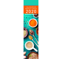 Calendrier marque-page 2020 - PICTURA - 4 x 16 - Epices
