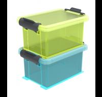 Lot de 2 boîtes de rangement Funcenter - 0,35L - Transparent