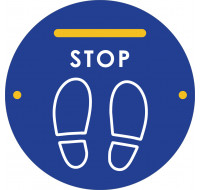 Sticker de distanciation STOP - VISO - 35 x 35