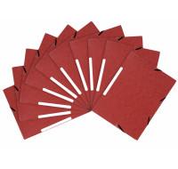 Lot de 10 chemises - 3 rabats à élastiques - EXACOMPTA - Rouge