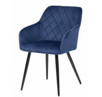 Lot de 2 chaises Beauty - Velours Bleu