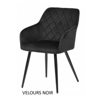 Lot de 2 chaises Beauty - Velours Noir