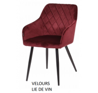 Lot de 2 chaises Beauty - Velours lie de vin