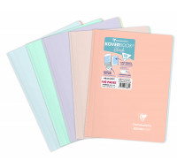 Cahier Koverbook A4 - CLAIREFONTAINE - 160 pages - Petits carreaux - Assortis