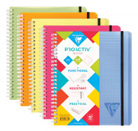 Cahier Proactiv Book - CLAIREFONTAINE - A5 - 5x5 - 180 pages