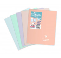 Cahier Koverbook Blush - CLAIREFONTAINE - 17x22 cm - 96 pages - Grands carreaux