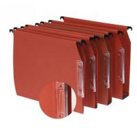 25 dossiers suspendus armoire fond 15 mm - Orange