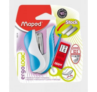 Mini agrafeuse Ergologic 24/6 26/6 + 400 agrafes - MAPED - divers coloris
