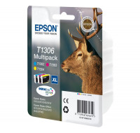 Pack 3 cartouches EPSON T1306 cerf - 3 couleurs