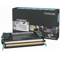 Toner laser C736H1KG - Lexmark - Noir
