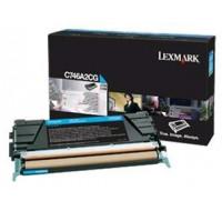 Toner laser C746A3CG - Lexmark - Cyan