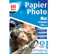 25 Feuilles papier photo A4 - MICRO APPLICATION - 235g
