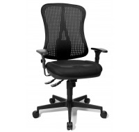 Chaise de bureau dactylo Head - TOP STAR - Noir