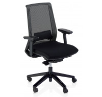 Chaise de bureau dactylo Ergo compact - TOP OFFICE - Noir